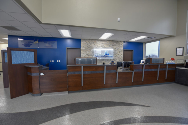 veterinary lobby, emergency vet lobby, veterinary waiting room